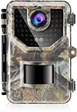 Sesern Trail Camera 16MP 1080P, IP66 Waterproof Game Cam with 940nm No Glow IR Night Vision to 65ft, 0.2s Trigger Time Motion Activated, 120 Degree Detection Range, Jungle Green
