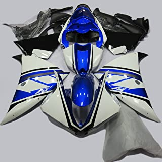 ABS Injection Molding - White with Decals Fairing Kit for 2009 2010 2011 2012 2013 Yamaha YZF R1