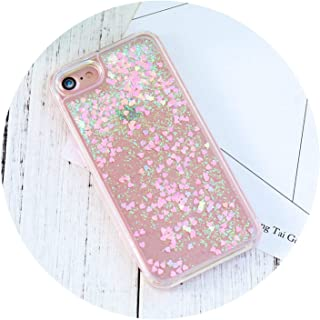 Cute Quicksand Cases for iPhone 5s SE Case for iPhone 6 6s 7 8 Plus Case Glitter Liquid Back Cover for iPhone 6 S Cases,Pink,for i8Plus