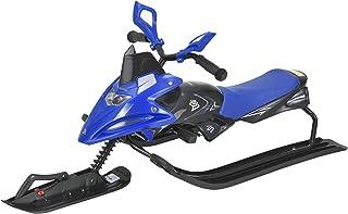 [pro.tec] Trineo 122 x 50 x 43,5 cm Patín Juego de Invierno con Volante hasta 40 kg Azul y Negro