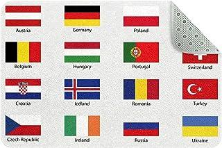 Doormat Custom Indoor Welcome Door Mat, European Country Flags Home Decorative Entry Rug Garden/Kitchen/Bedroom Mat Non-Sl...