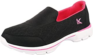 KazarMax Women's Black & Pink Slipon's Walking Sneaker/Shoes