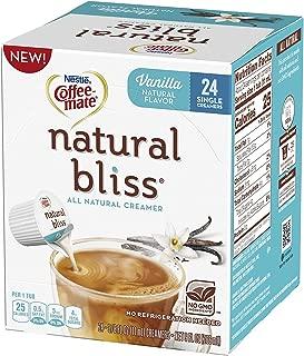 Coffee-Mate Natural Bliss Liquid Creamer Singles Tubs, Vanilla, 24 Count