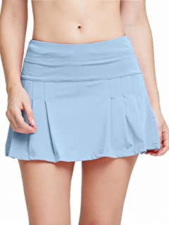Women's Active Athletic Skort Lightweight Quick Dry Shorts Breathable Running Tennis Golf Workout Skirt with Pockets