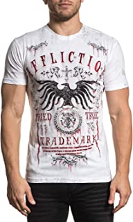 Affliction Men's White Tried Short Sleeve Tee