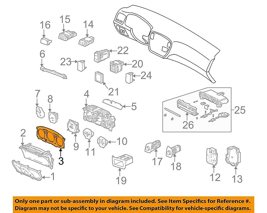 Genuine Honda 78171-S00-A61 Meter (Lower) Visor Assembly
