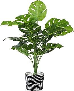 PAKUES-QO Plantes Artificielles Plantes De Palmier Artificielles Plante Artificielle en Pot De Feuilles Vertes en Pot pour...