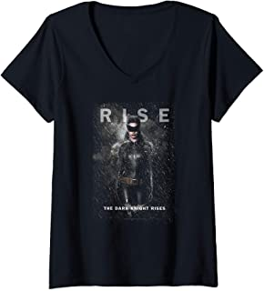 Womens Batman Dark Knight Rises Catwoman Rise V-Neck T-Shirt