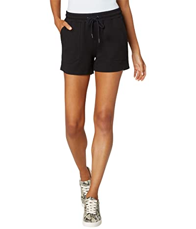 Liverpool Pull-On Knit Shorts with Porkchop (Black) Women