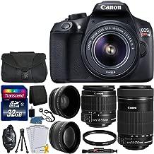 Canon EOS Rebel T6 Digital SLR Camera & 18-55mm EF-S is II Lens + Canon EF-S 55-250mm is STM Lens + 58mm Wide Angle Lens + 2X Lens + Camera Bag + UV Filter + 32GB SDHC Memory Card + Accessory Bundle