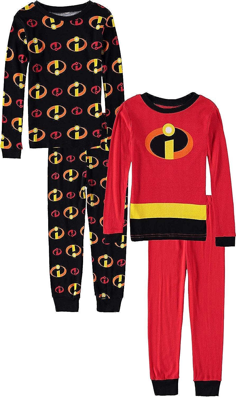 Pixar Boys' Incredibles 4-Piece Cotton Pajama Set