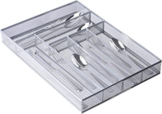 Range Couvert Tiroir de Cuisine Mailles, 6 Compartiments Range Tiroir de Couverts Organisateur de Cuisine Couvert avec Pie...