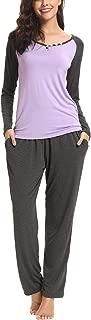 Women's Pajama Set Long Sleeve Full Length Bottom Soft Sleepwear