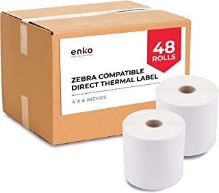 "(48 Rolls, 21,600 Labels) 4 x 6"" Direct Thermal Address & Shipping Labels (4 x 6"") Compatible for Zebra 2844 ZP-450 ZP-500..."