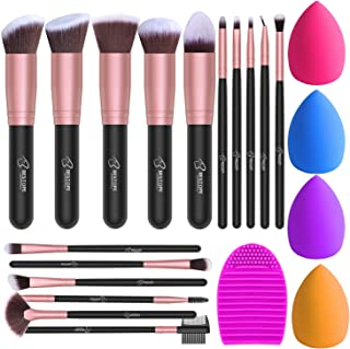 BESTOPE Makeup Brushes 16PCs Makeup Brushes Set with 4PCs Makeup Sponge and 1 Brush Cleaner Premium Synthetic Foundation B...