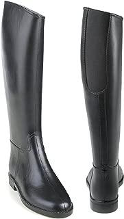Ladies Cadet Flex II Rubber Tall Riding Black Boots with Elastic Insert