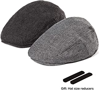 61b06d39b8251 LADYBRO Men Newsboy Cap Ivy Hat - 30% Wool Cabbie Hats for Men Irish Tweed