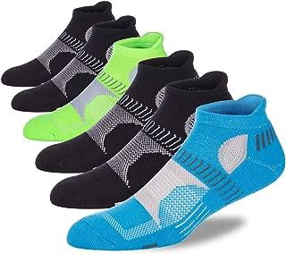 LITERRA Men's Ankle Socks Running Athletic Socks with Heel Tab (6 Pairs)