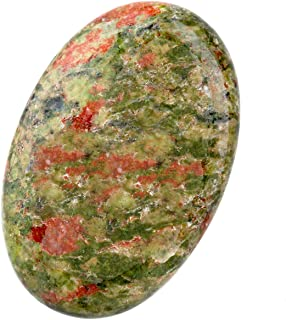 Nupuyai Soap Shape Healing Palm Stone, Smooth Pocket Worry Crystal,Unakite Gem,Set of 2