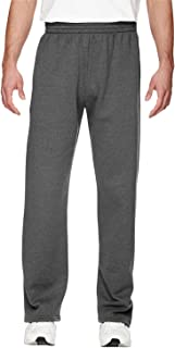 Fruit of the Loom Mens Men's Pocketed Open-Bottom Sweatpants