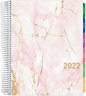 """Deluxe Planner: 14 Months (Nov 2021 Through Dec 2022) 8.5""""x11"""" Includes Page Tabs, Bookmark, Planning Stickers, Pocket Fol..."""
