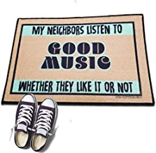 product image for My Neighbors Listen to Good Music - HIGH COTTON Welcome Doormat