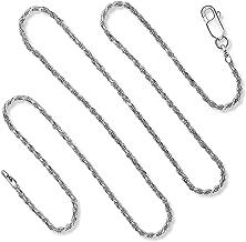 925 Sterling Silver Diamond Cut Rope Chain Necklace Bracelet 1.5MM - 3.5MM For Women & Men 7-36 Inch