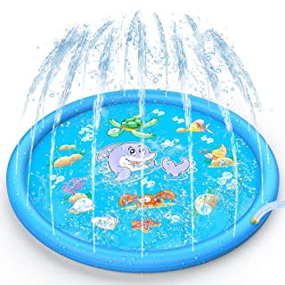 AK Sprinkler Splash Pad 68 Inch, Funny Outdoor Party Sprinkler Toy Sprinkler Play mat & Splash Pad for Kids, Toddlers, Boys and Girls  (Blue)