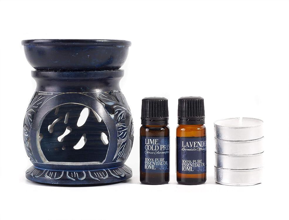椅子顔料グローバルLavender and Lime Oil Burner Gift Set