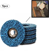 Ximimark 5 Pcs Poly Strip Disc Wheel Paint Rust Removal Clean for Angle Grinder 10016mm,Blue