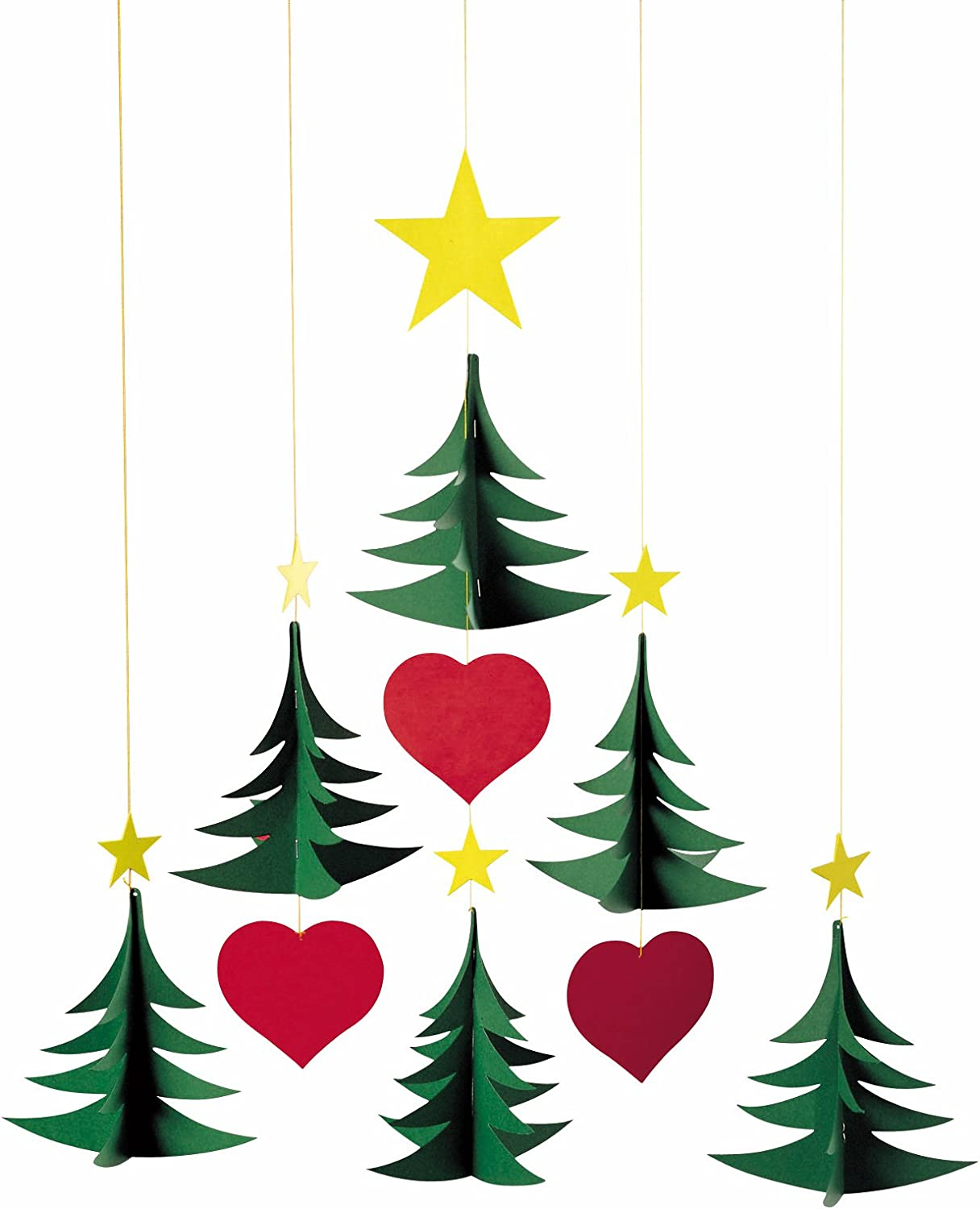 Christmas Some reservation Tree 6 Hanging Mobile 4 years warranty - Inches Handmade 17 in Denmar