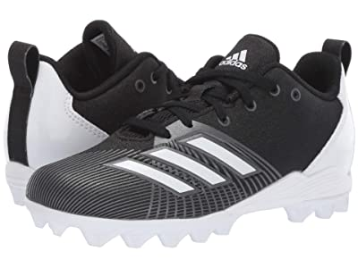 adidas Kids Adizero Spark MD Football (Toddler/Little Kid/Big Kid) (Black/White/Night) Kids Shoes