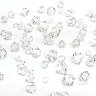 72 pcs Swarovski 5328 / 5301 Mixed Sizes in 3mm 4mm 5mm 6mm Xilion Bicone Beads clear CRYSTAL (001) **FREE Shipping from Mychobos (Crystal-Wholesale)**