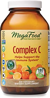 MegaFood, Complex C, Supports a Healthy Immune System, Antioxidant Vitamin C Supplement, Gluten Free, Vegan, 180 tablets (...