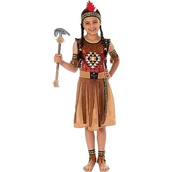 Magicoo - Disfraz de india americana, para niñas, color beis y ...