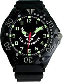 U.S. Air Force Etched Dial Mens Dive Watch - 200m Water Resistant