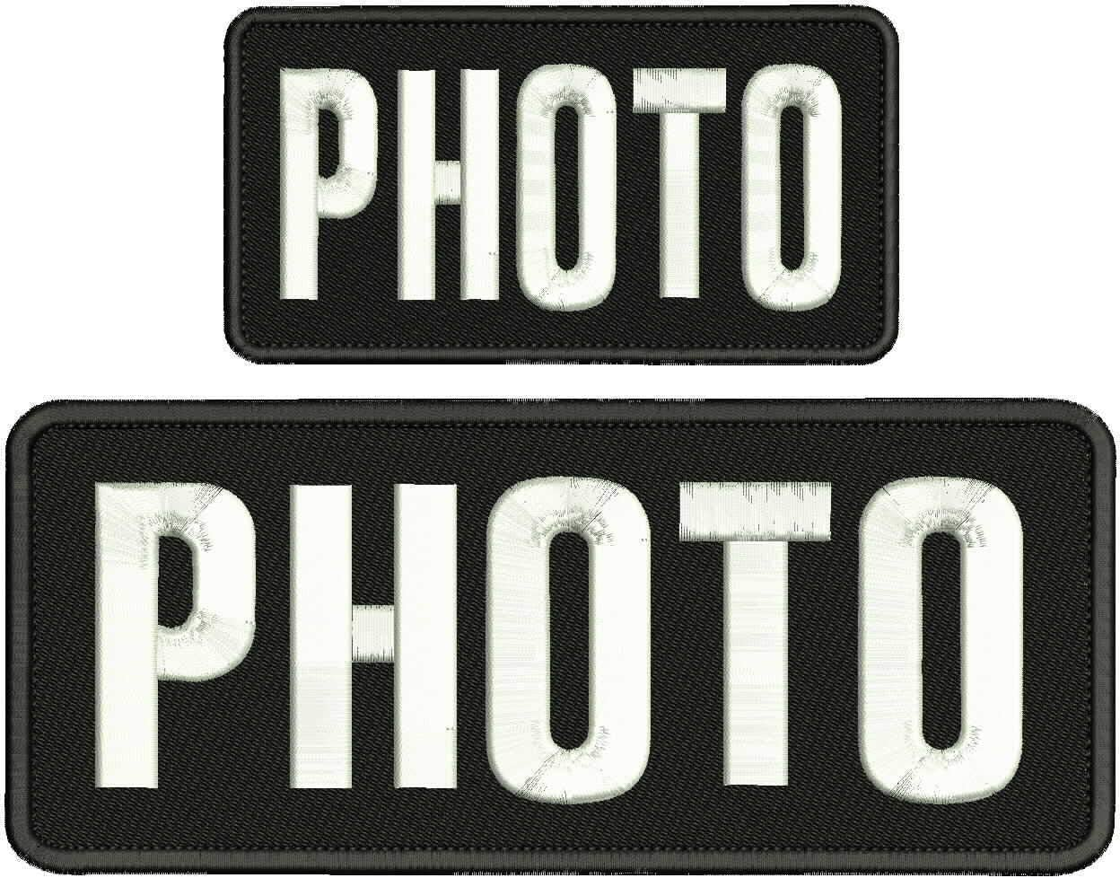 Photo Embroidery It is very popular Patch 4x10 and Hook New popularity 3X6 on Back