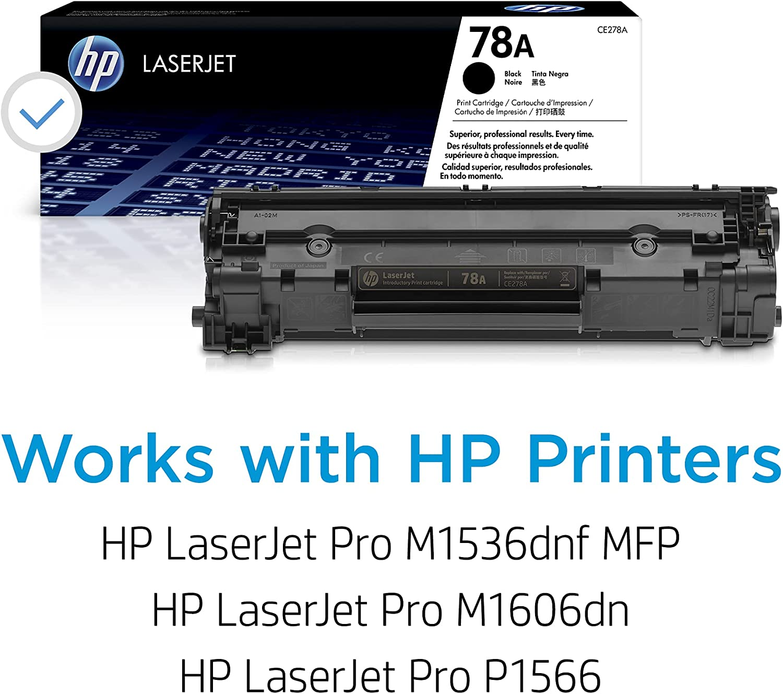 HP 78A | CE278A | Toner-Cartridge | Black | Works with HP LaserJet Pro M1536, MFP P1606