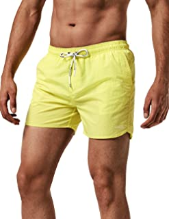 49a94ee899 MaaMgic Men Swimming Shorts Classic Mesh Lined Surf Trunks Quick-Drying  Beach Shorts Adjustable Drawstring