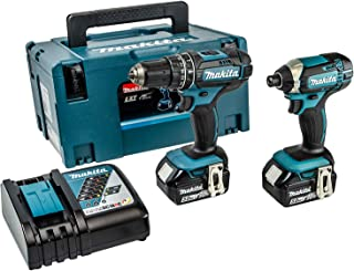 Makita DLX2131TJ 18V Li-ion LXT 2 Piece Kit Complete with 2 x 5.0 Ah Batteries and Charger Supplied in a Makpac Case