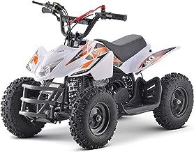 KFW Titan 40cc Gas Powered Kids ATV Kids 4 Wheelers Kids Quads, Speed Limiter and Kill Switch (White & Orange)