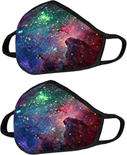 Unisex Washable and Reusable Soft Cotton Material Galaxy Color Warm Face Protection for Outdoor