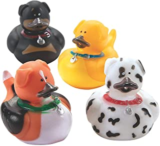 (1-Pack of 12) - One Dozen (12) Dog Rubber Duckys