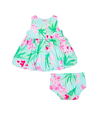 Lilly Pulitzer Kids Baby Britta Bubble Dress (Infant) (Aqua AL Fresco Isnt She Lovely) Girl