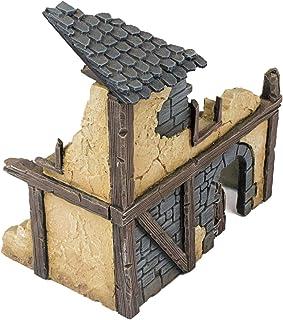 War World Gaming Fantasy Village Ruined House 1 – 28mm Heroic Scale Wargaming Terrain Model Diorama Scenery Wargame Tablet...