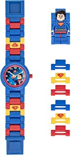Boys' LEGO Superman Analog Quartz Watch with Plastic Strap, Blue, 20 (Model: 8021575)
