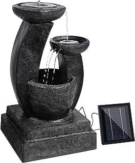 Gardeon Solar Power Fountain Water Feature Three-Tier Bird Bath with 3W Solar Fountains Water Pump for Outdoor and Garden