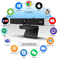 Aluratek 4K Ultra HD Live Broadcast Webcam