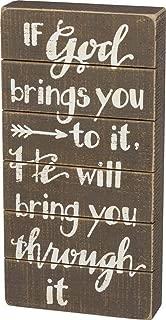 Primitives By Kathy Wood Slat Box Sign -
