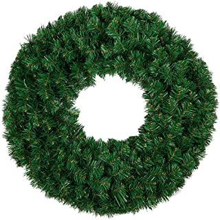 NYKK Front Door Wreath Artificial Green Pine Garland Christmas Wreaths 4 Sizes Christmas Pine Garlands for Christmas, Home...